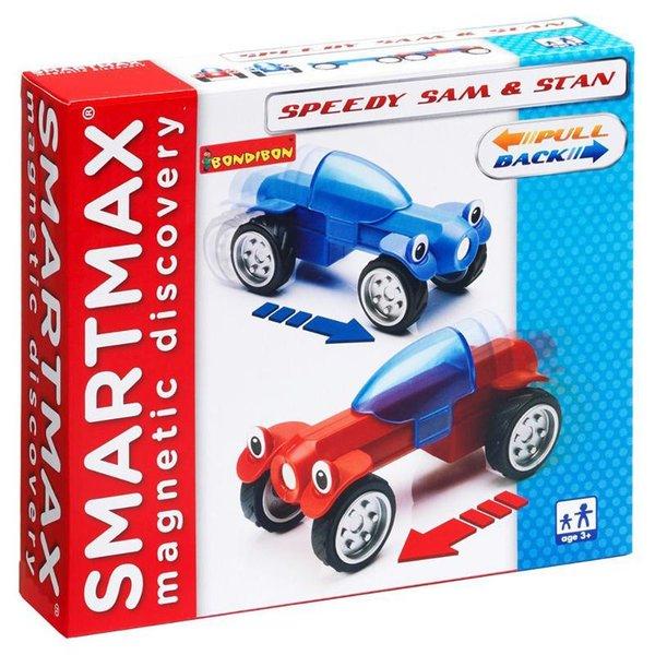 BONDIBON SmartMax Конструктор магнитный Гонщики Сэм и Стэн, инерционный
