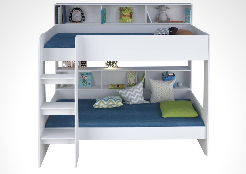 Кровать-чердак двухъярусная Polini Simple 5000, белый