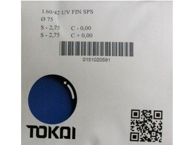 Линзы для очков Tokai очковая линза 1.6 UV SPS