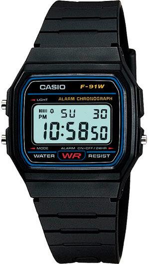 Японские наручные часы Casio F-91W-1Q