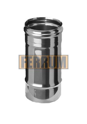 Труба-Дымоход (из нержавеющей стали 0,5 мм) ф 80 х0,25м
