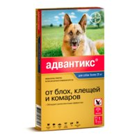 BAYER ADVANTIX для собак от блох, клещей, комаров 400 (25-40кг веса)