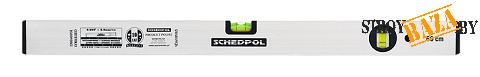 """Уровень """"Schedpol"""" серебристый люкс 2 глазка, 80см"""
