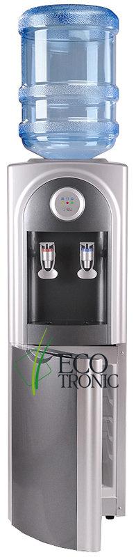 Кулер для воды (Экотроник) Ecotronic C21-LC grey со шкафчиком на 16л. и компрессорным охлаждением, напольный