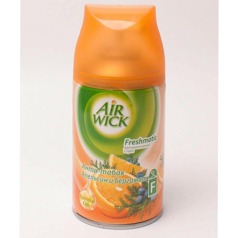 """Освежитель воздуха Air Wick Refill """"Антитабак. Апельсин и бергамот"""" сменный баллон 250 мл"""