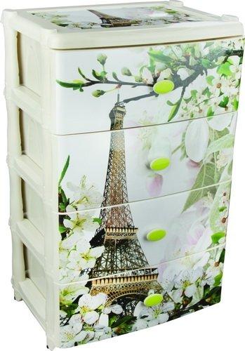 Комод Альтернатива для игрушек широкий 4 секции Весна в Париже арт.М2266