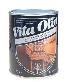 Масло VITA OLIO для внутренних работ с твердым воском бесцветное 0,75 л.