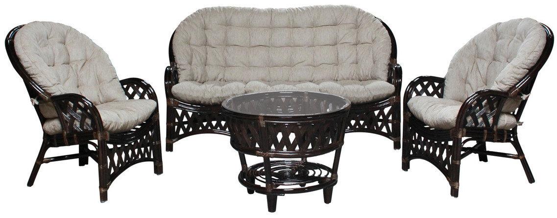 """Плетеная мебель из натурального ротанга """"Рузвельт XL"""" (3-х местный диван)"""