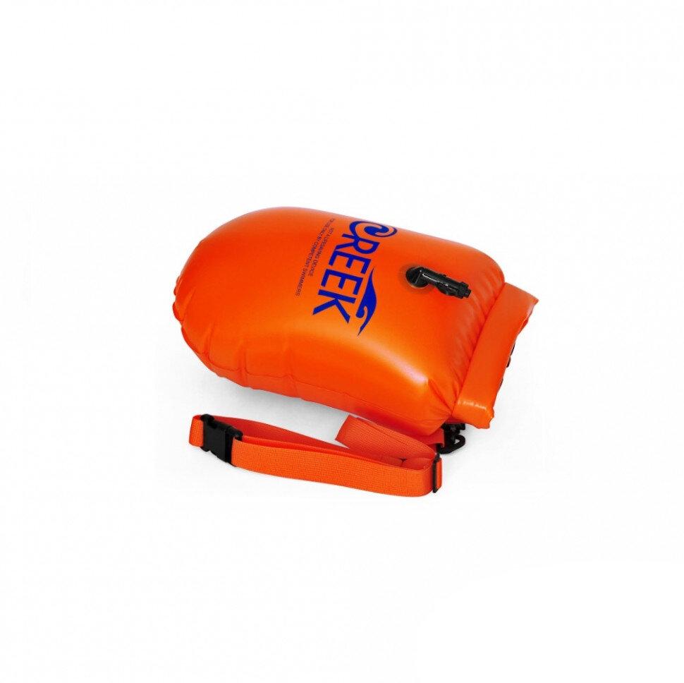 Буй безопасности с карманом для плавания на открытой воде Creek Safety Buoy (16 л), оранжевый