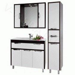 Комплект мебели для ванной комнаты Габи 90 с пеналом Цвет: Белый, Венге, Дуб-К/Белый-Ф, Венге-К/Белый-Ф, Дуб-К/Венге-Ф