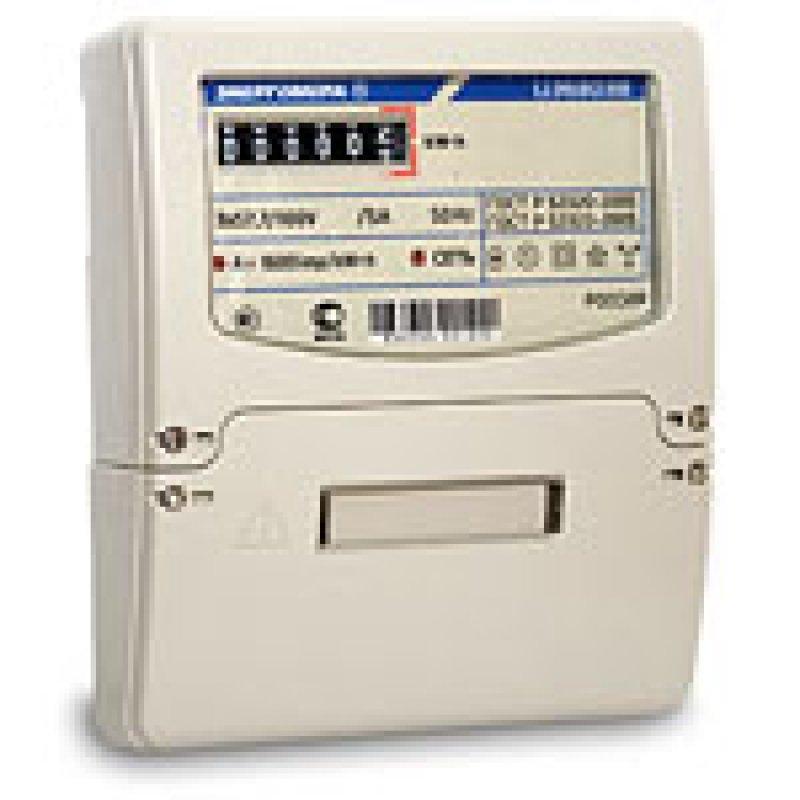 Счетчик электроэнергии трехфазный однотарифный ЦЭ6803В 60/5 Т1 D+Щ кл1 М7 Р32 230В ОУ Энергомера