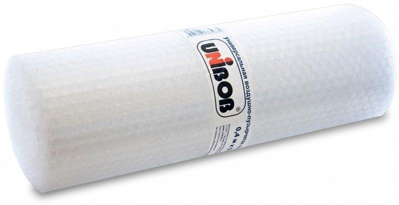Воздушно-пузырьковая (пузырчатая) пленка UNIBOB 0,4м*5м, 75г/м3, 2-слойная, прозрачная, рулон