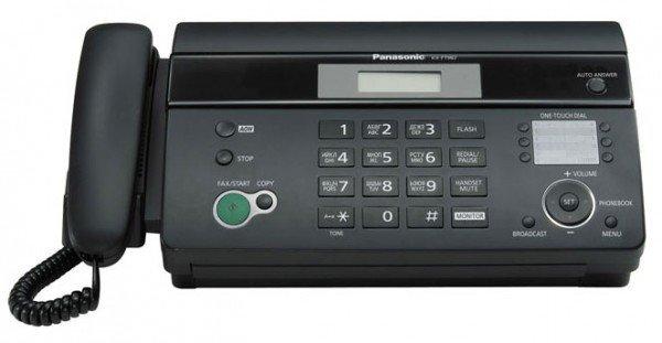 Факс Panasonic KX-FT982RU-B черный печ.:на термобумаге АОН