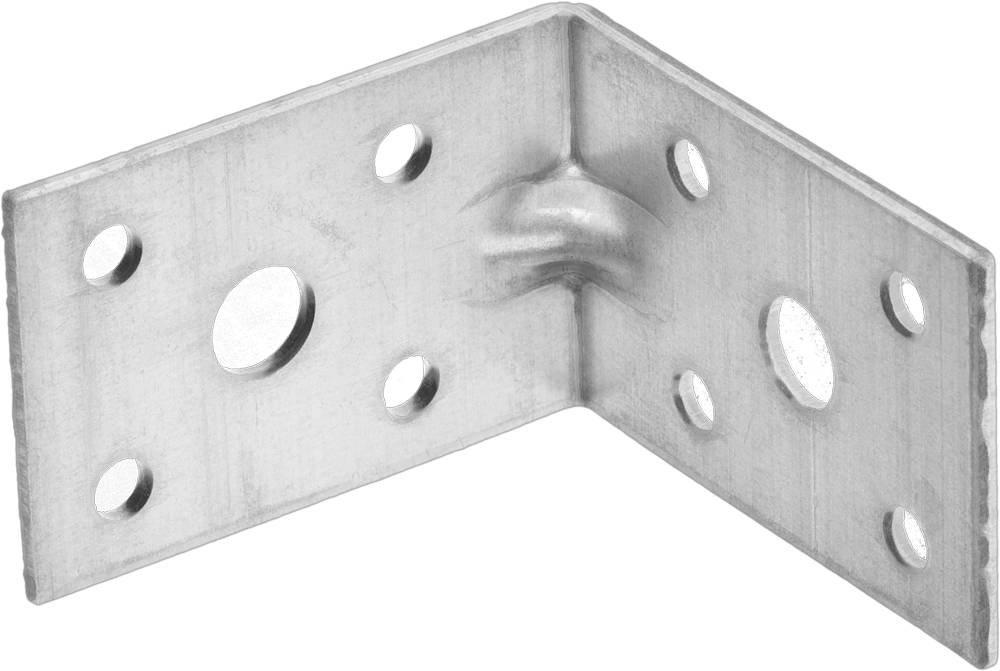 Крепежный угол усиленный 35х50х50 мм 1 шт Зубр МАСТЕР 310116-35-050