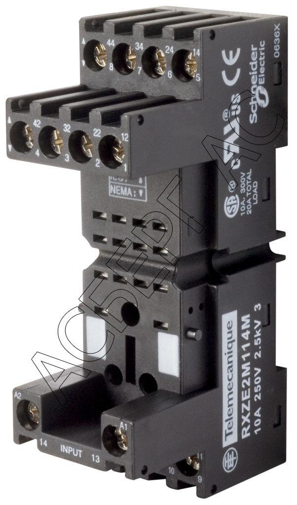 Промежуточные реле Розетка c комбинированными контактами (4 перекидных) Schneider Electric
