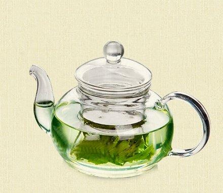 Стеклянный чайник с заварочной колбой объем 1000мл