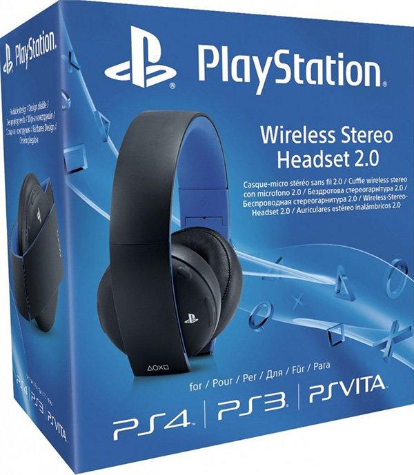 Беспроводная гарнитура для PS4 (черная, с поддержкой PS3 и PS Vita)