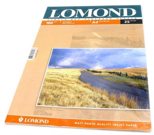 Фотобумага Lomond 0102038 A4/100г/м2/25л./белый матовое/матовое для струйной печати
