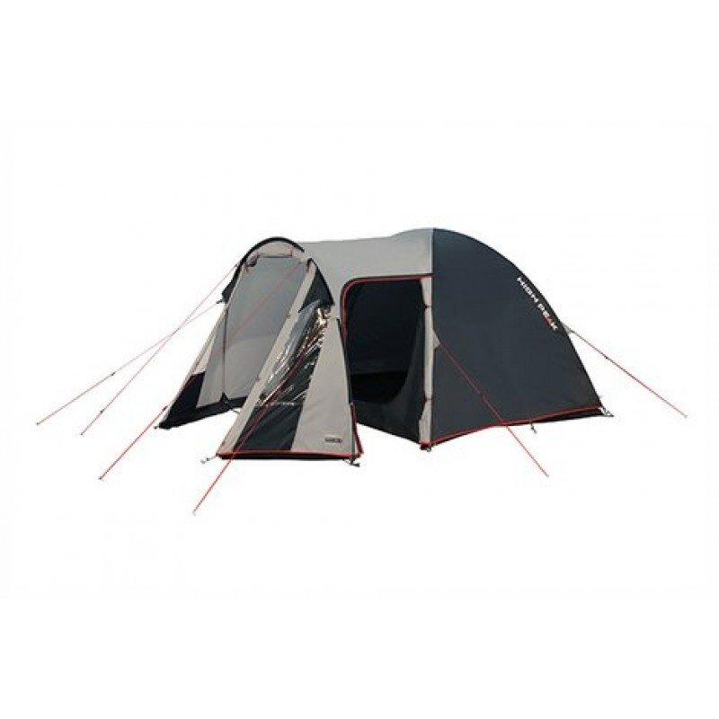 Палатка HIGH PEAK Tessin 4 (цвет: светло-серый/тёмно-серый/красный)