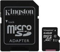 Карта памяти 64GB Kingston SDCS/64GB 64GB Карта памяти MicroSDXC Class10 UHS-I Canvas Sel.