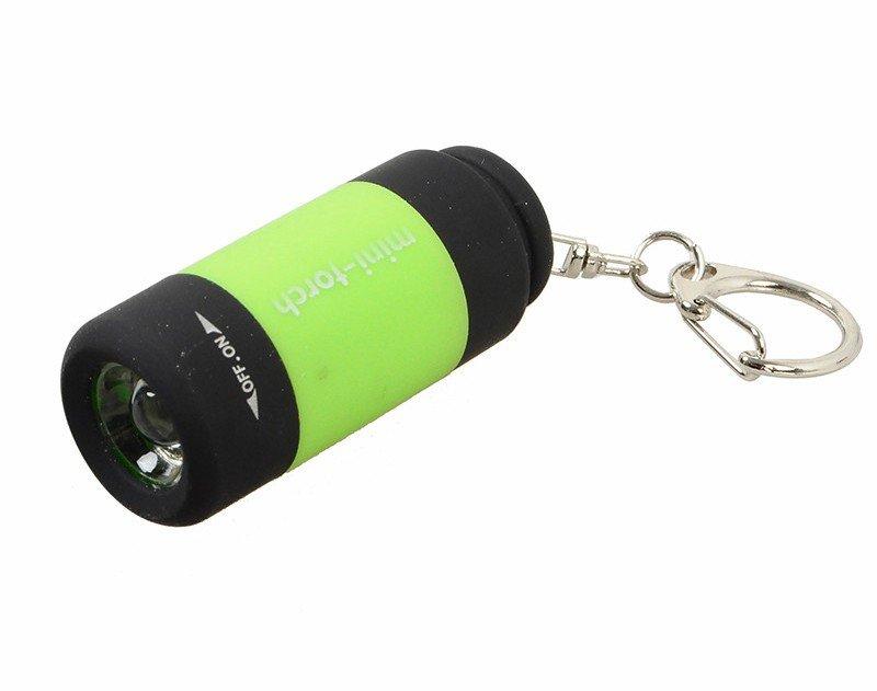 Фонарик - брелок светодиодный MLKG-3U, USB, цвет салатовый