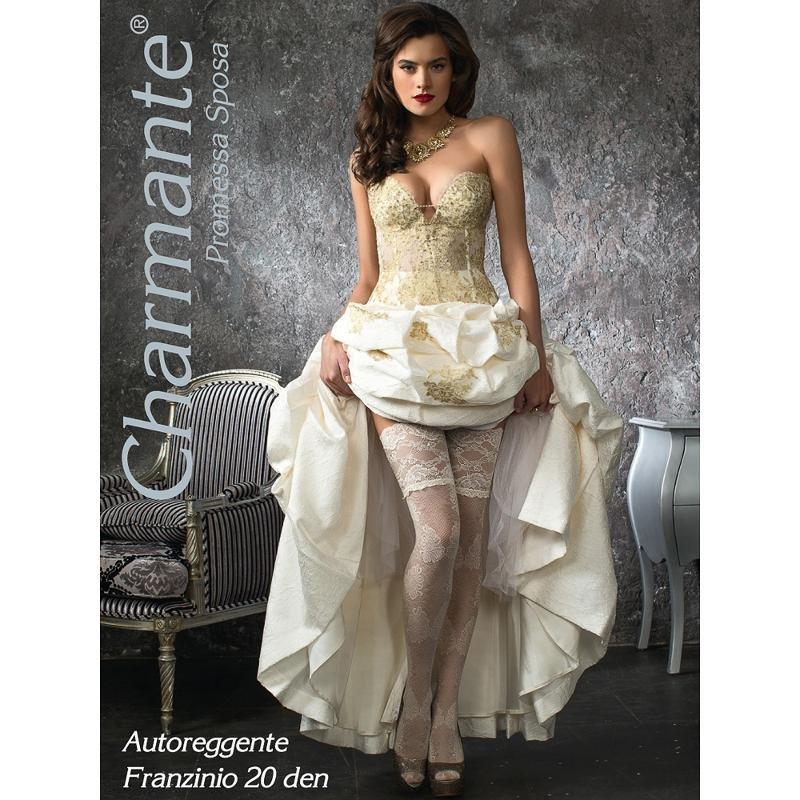 Чулки Charmante свадебные Franzinio, 20 Den, белый, L-XL