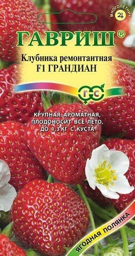 "Семена. Клубника ""Грандиан F1"" (5 штук в пробирке)"