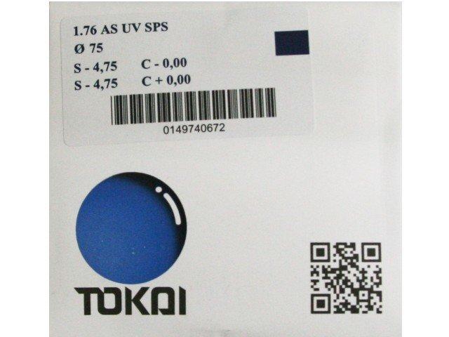 Линзы для очков Tokai очковая линза 1,76 AS UV SPS