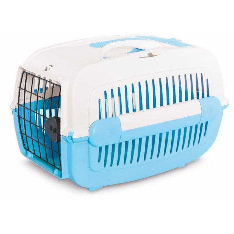 Переноска PET INN PetInn COSMOS малая с голубым поддоном 48х33х32,5см
