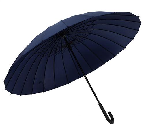 Зонт Mod черный трость 24 спицы (с чехлом)