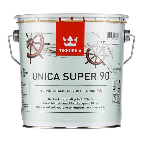 TIKKURILA уника супер лак алкид полиуретан, водо ст, гл (2,7л)