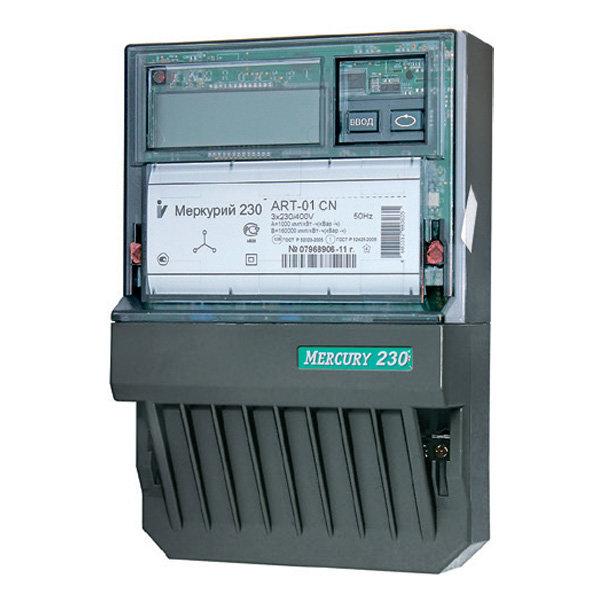 Счетчик электроэнергии Меркурий 230 ART-01 CN 5(60)А/380В многотарифный, ЖКИ