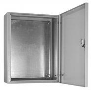 Щит металлический с монтажной панелью, серый, серая дверь, ЩМП 06 400х500х155