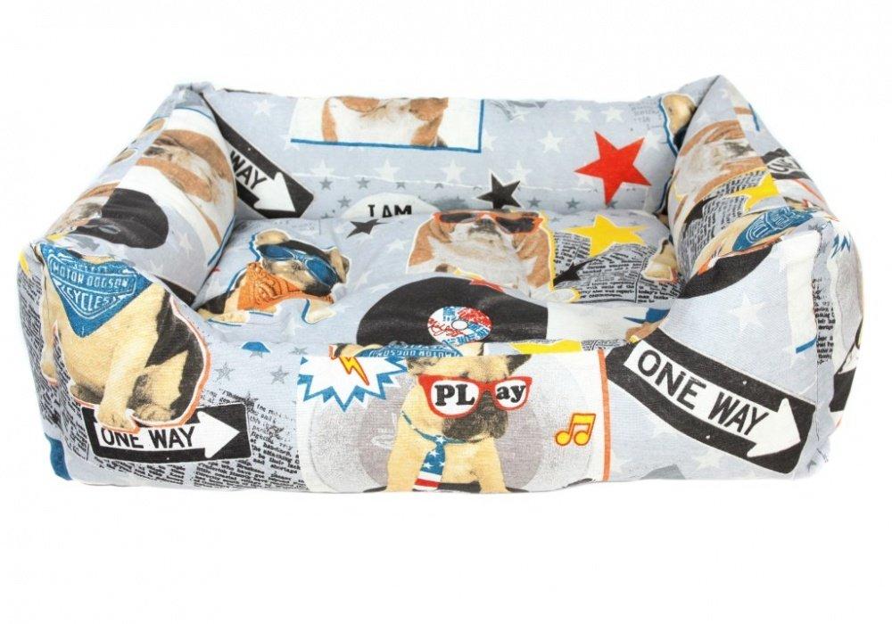 Лежак для собак Crazy Pets PRIDE Дискодог 70х60х23 см
