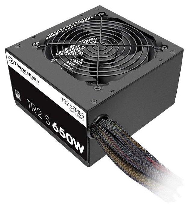 Блок питания Thermaltake atx 650w tr2 s trs-650ah2nk 80+ (24+4+4pin) apfc 120mm fan 5xsata rtl