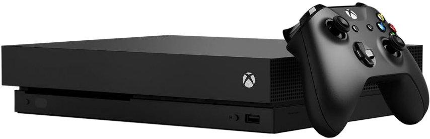 Игровая приставка Microsoft Xbox one X (черный)