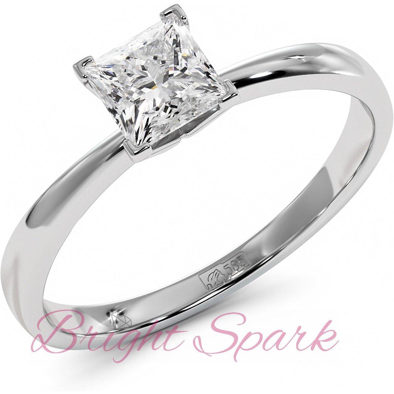 Золотое помолвочное кольцо с квадратным камнем Autumn 0,5 карат