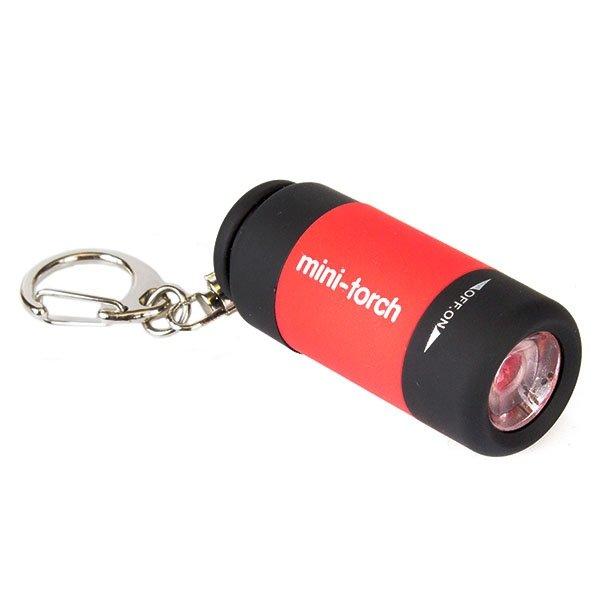Фонарик USB LED светодиодный красный