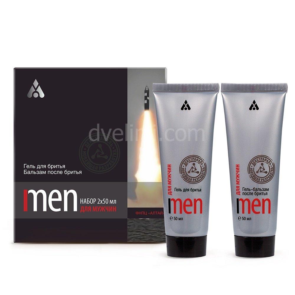 Подарочный набор для мужчин, гель для бритья и гель-бальзам после бритья.