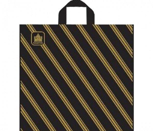 """Пакеты с петлевой ручкой """"Золотая полоса"""", 40х44 см (50 штук)"""