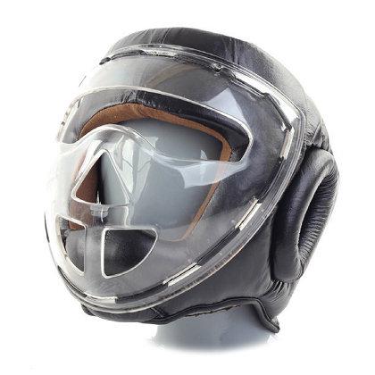 Шлем боксерский с защитной маской Jabb JE-2104, черный (размер L)