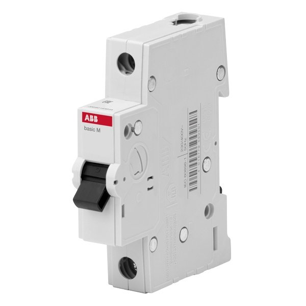 Автоматический выключатель ABB Basic M 1P 10A C 4,5кА, BMS411C10 (автомат) (2CDS641041R0104)