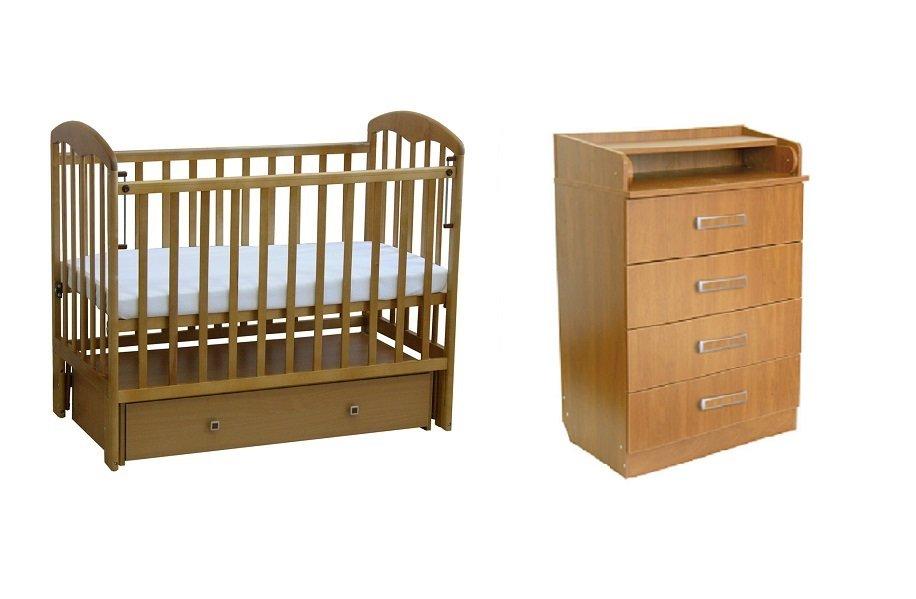Детская комната Мед: кроватка детская 328 +комод 60 см