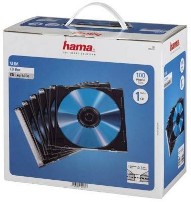 Коробка HAMA для 100 CD/DVD прозрачный 100шт H-51270
