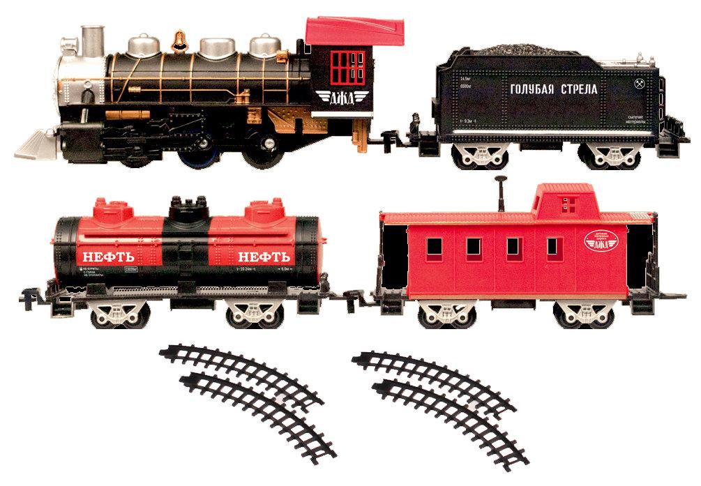 Наборы игрушечных железных дорог, локомотивы, вагоны Голубая Стрела GS-87162