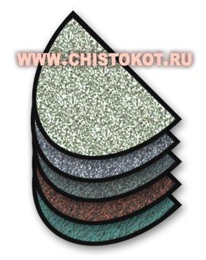 """Коврик грязезащитный """"Каучук асептик"""" полукруглый, 60х85 см Зеленый"""