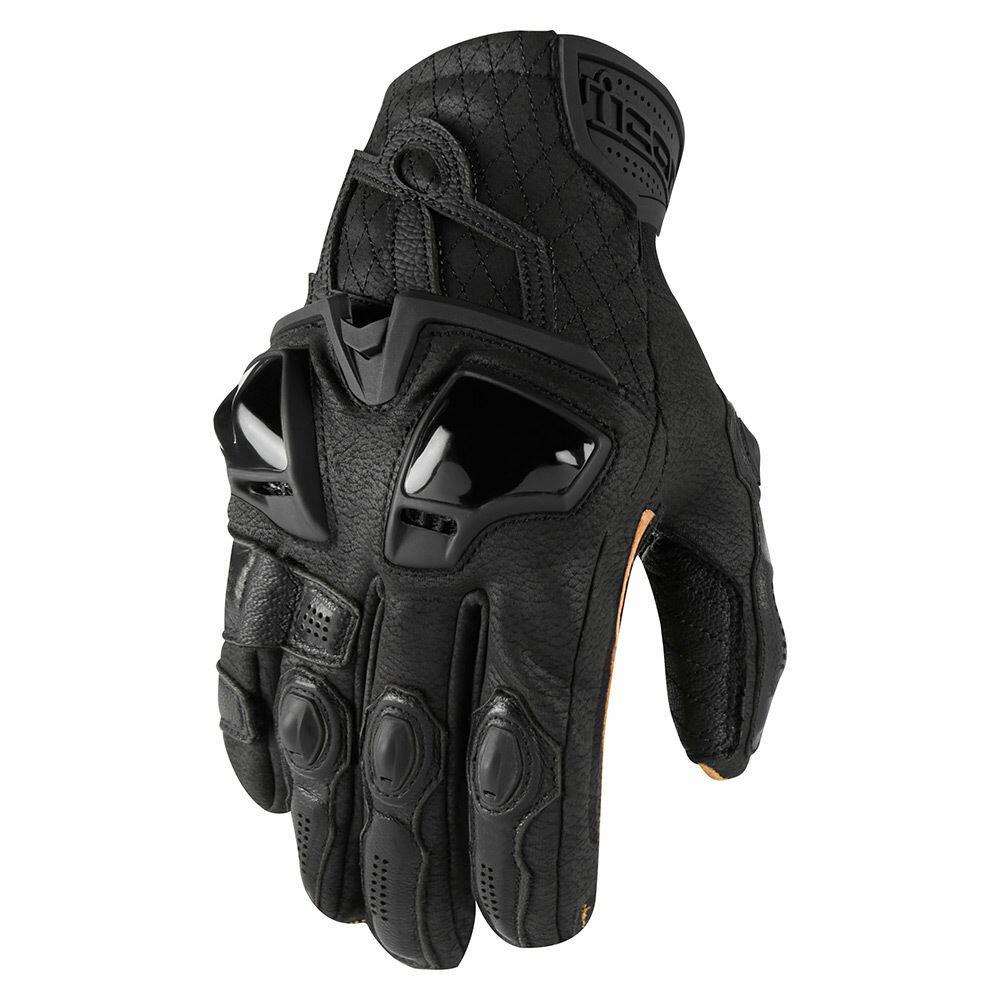 Icon Hypersport Short мотоперчатки черные (цвет: черные, размер: xl)