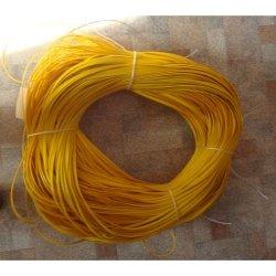 """Искусственный ротанг """"Полоса цвет желтый 7 мм, текстура гладкая"""" Полисервис"""