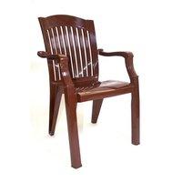Кресло пластиковое Премиум шоколадный 90х45х56 см