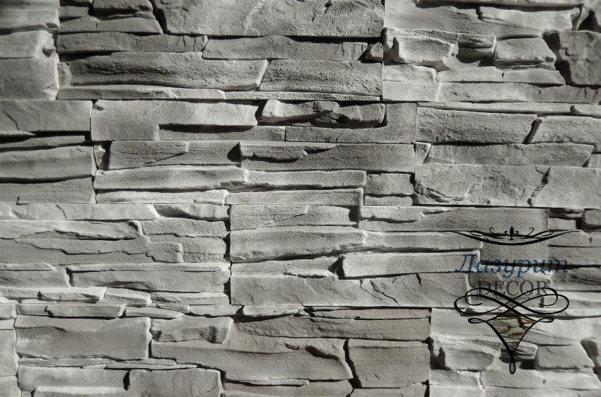 Декоративный камень Lazurit Decor Сланец Альпийский «Серый» Артикул: SAS-04V